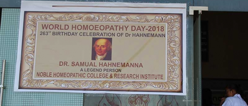WORLD HOMOEOPATHY DAY 2018