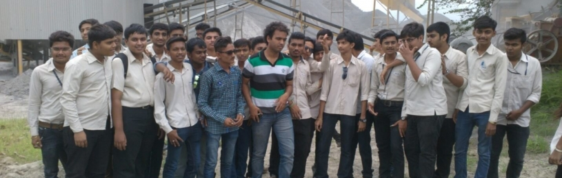 Visit to Shree Stone Crusher, Junagadh was arranged for 5th Semester students in 2015